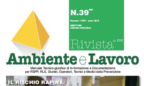 Ambiente e Lavoro n°39